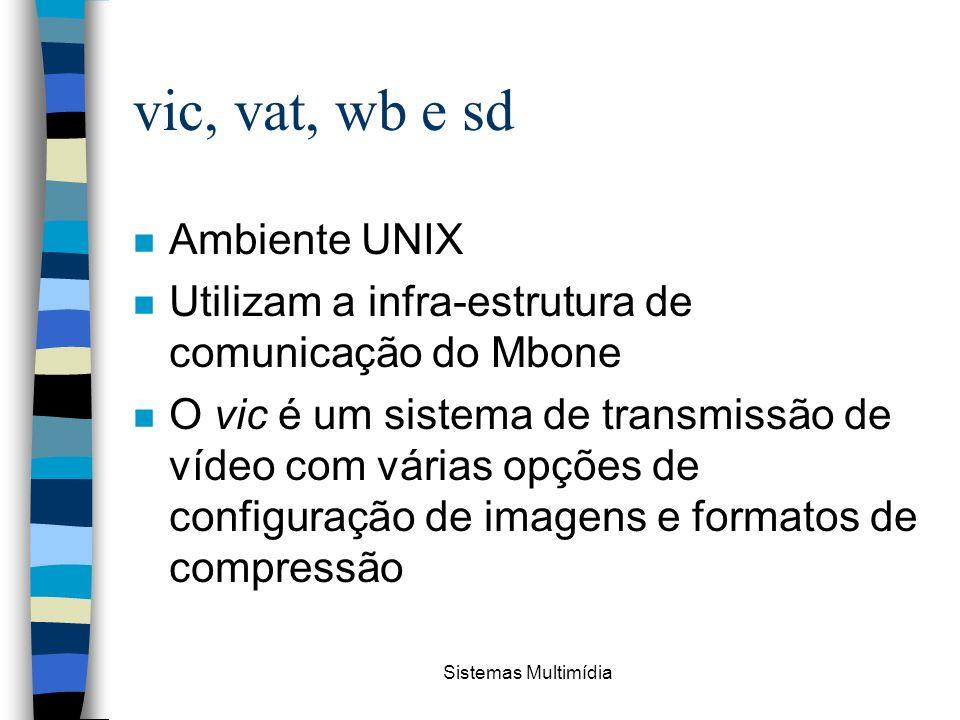 vic, vat, wb e sd Ambiente UNIX