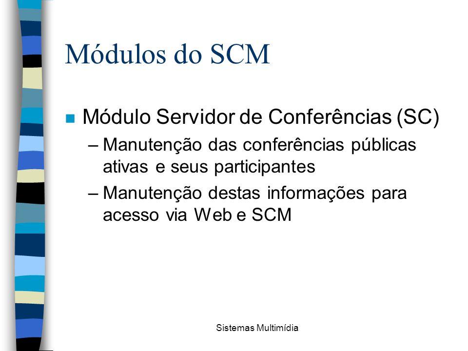 Módulos do SCM Módulo Servidor de Conferências (SC)