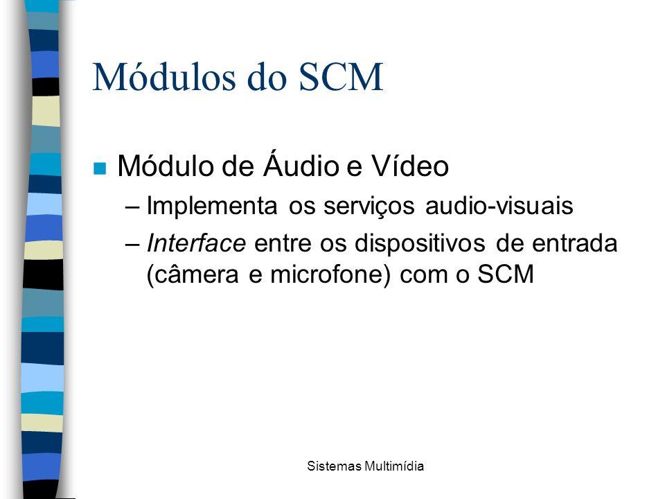 Módulos do SCM Módulo de Áudio e Vídeo