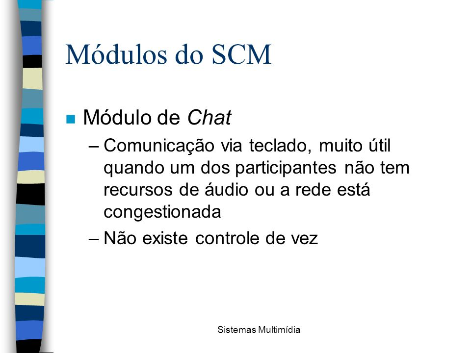 Módulos do SCM Módulo de Chat