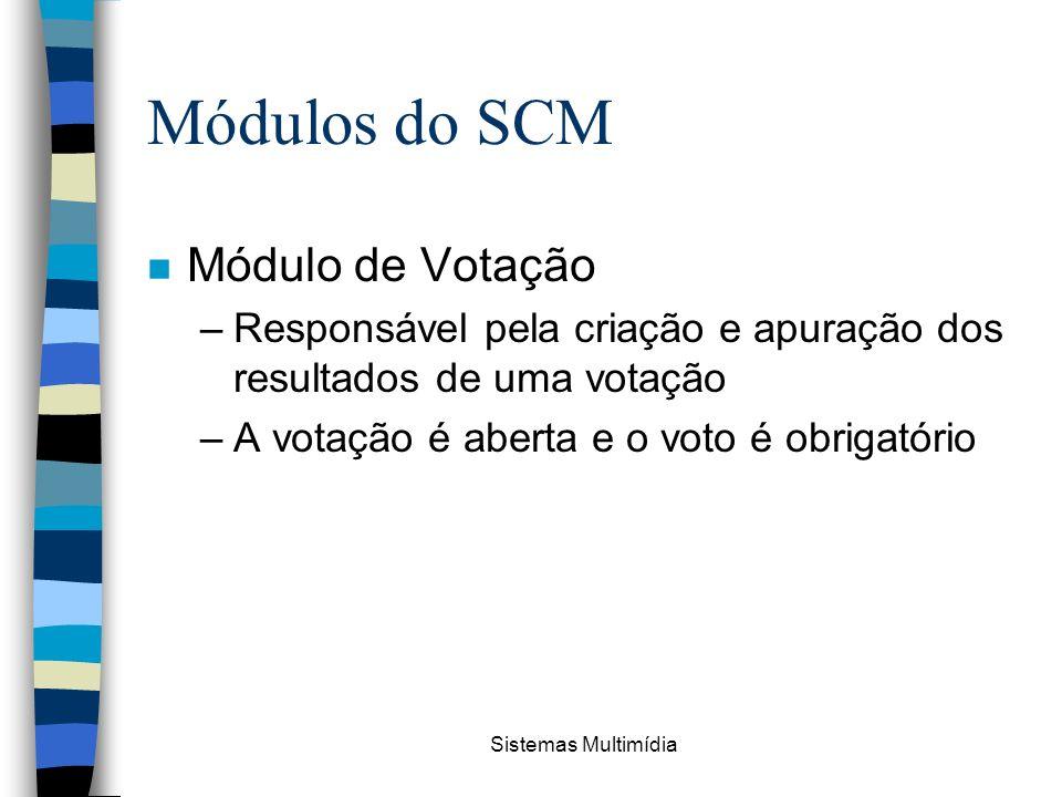 Módulos do SCM Módulo de Votação