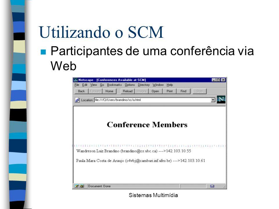 Utilizando o SCM Participantes de uma conferência via Web