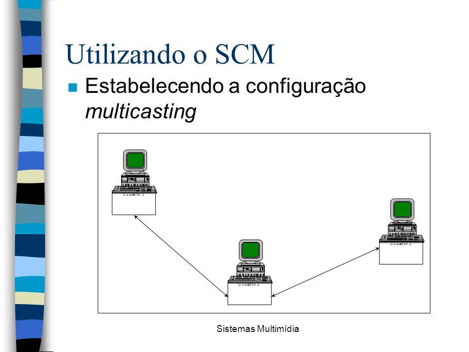 Utilizando o SCM Estabelecendo a configuração multicasting