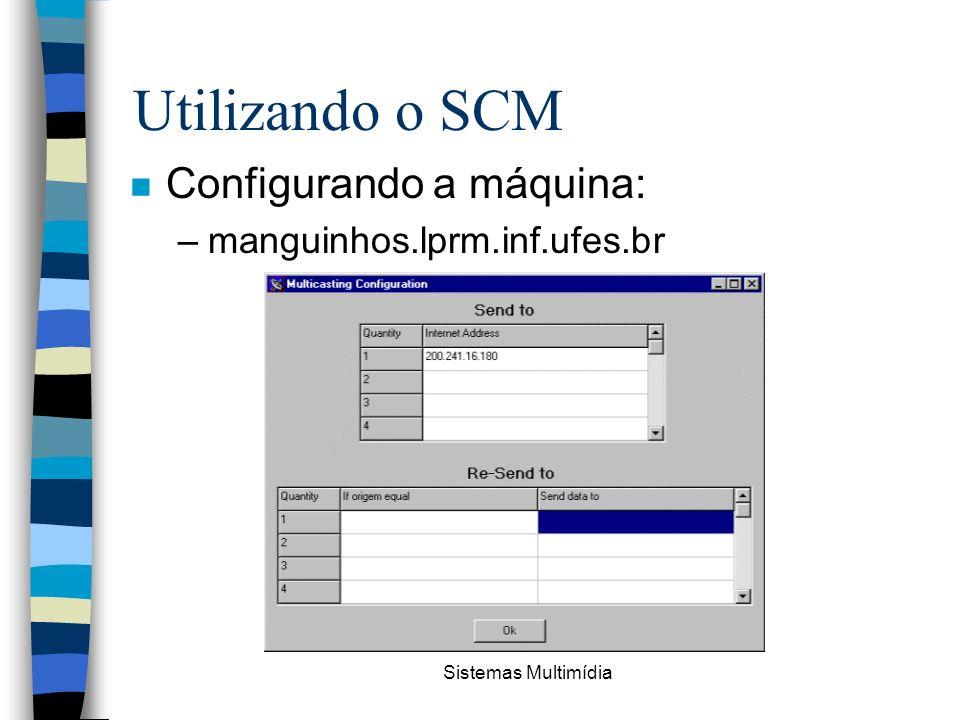 Utilizando o SCM Configurando a máquina: manguinhos.lprm.inf.ufes.br