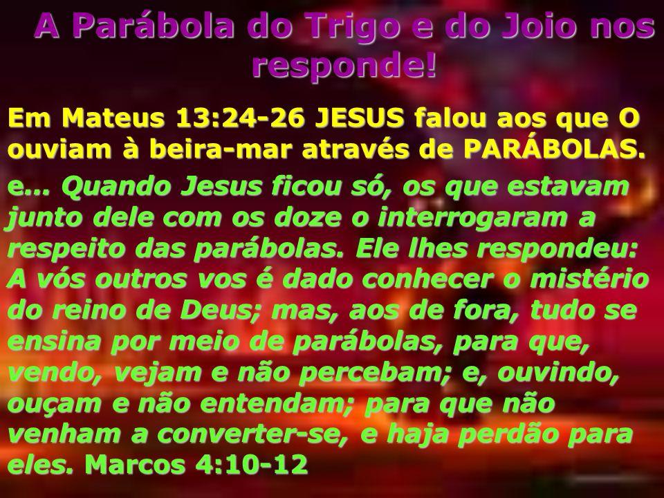 A Parábola do Trigo e do Joio nos responde!