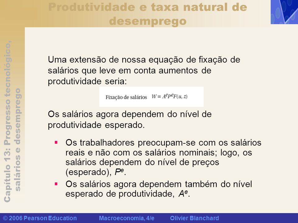 Produtividade e taxa natural de desemprego