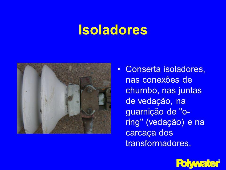 IsoladoresConserta isoladores, nas conexões de chumbo, nas juntas de vedação, na guarnição de o-ring (vedação) e na carcaça dos transformadores.