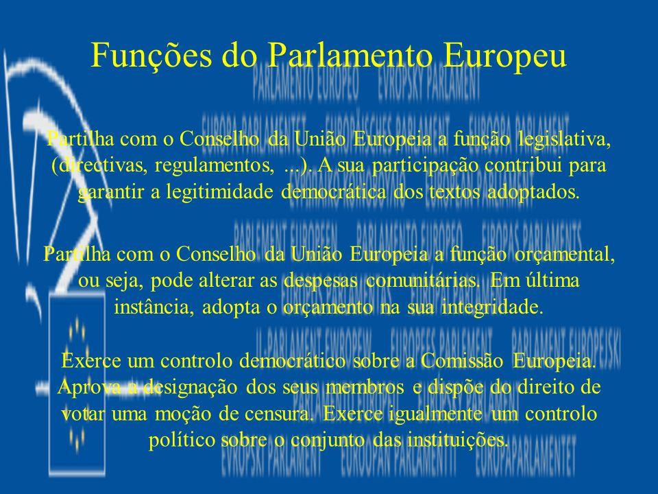 Funções do Parlamento Europeu