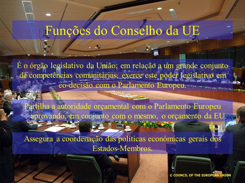 Funções do Conselho da UE