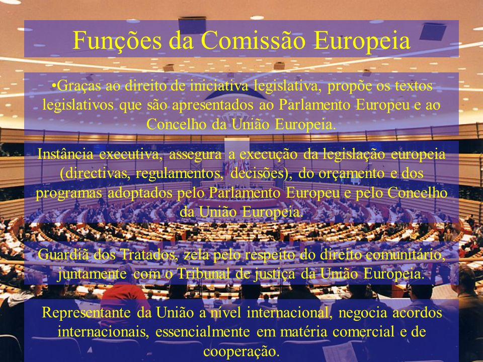 Funções da Comissão Europeia