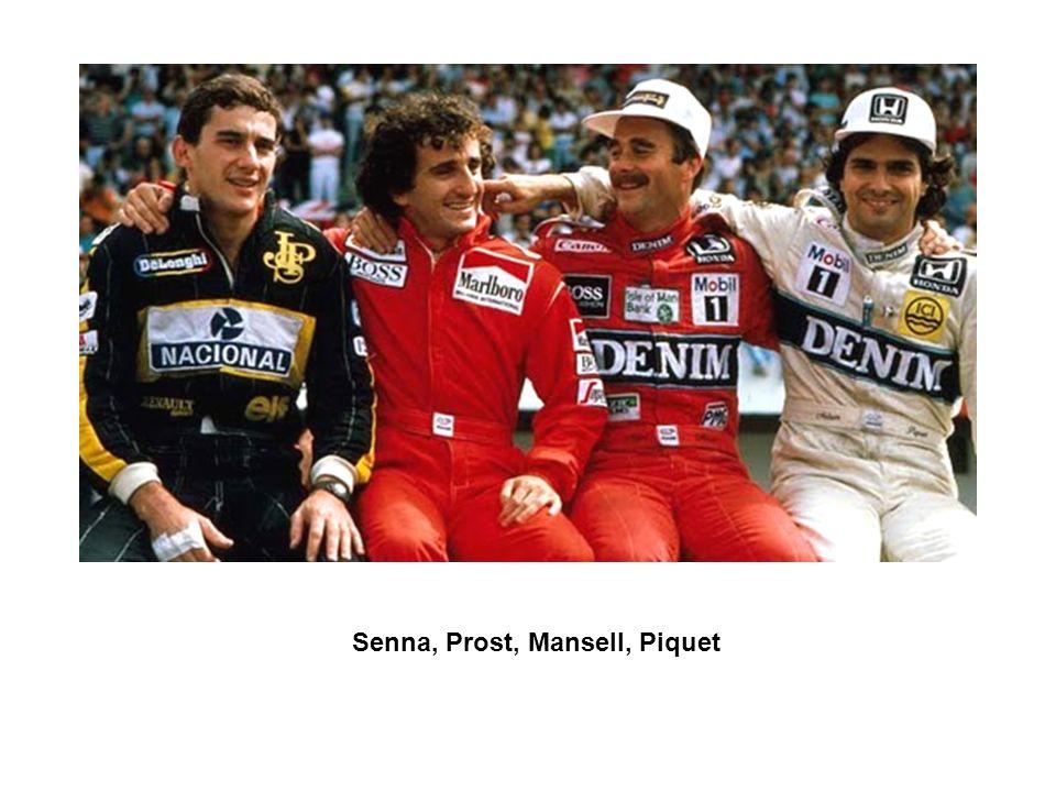 Senna, Prost, Mansell, Piquet