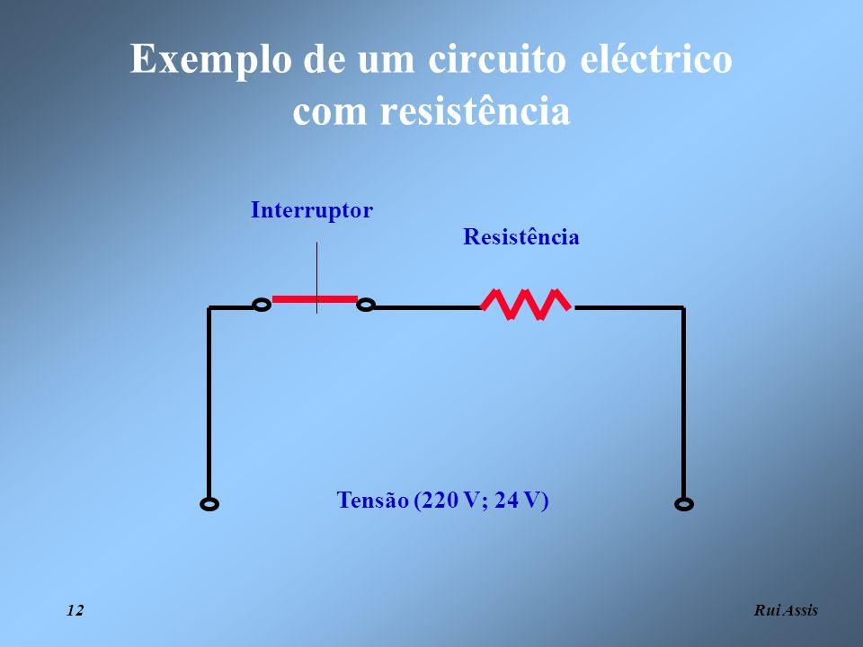 Exemplo de um circuito eléctrico com resistência