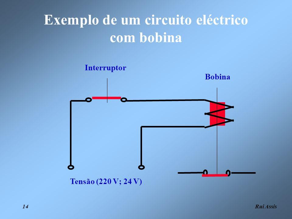 Exemplo de um circuito eléctrico com bobina