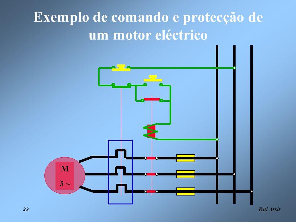 Exemplo de comando e protecção de um motor eléctrico
