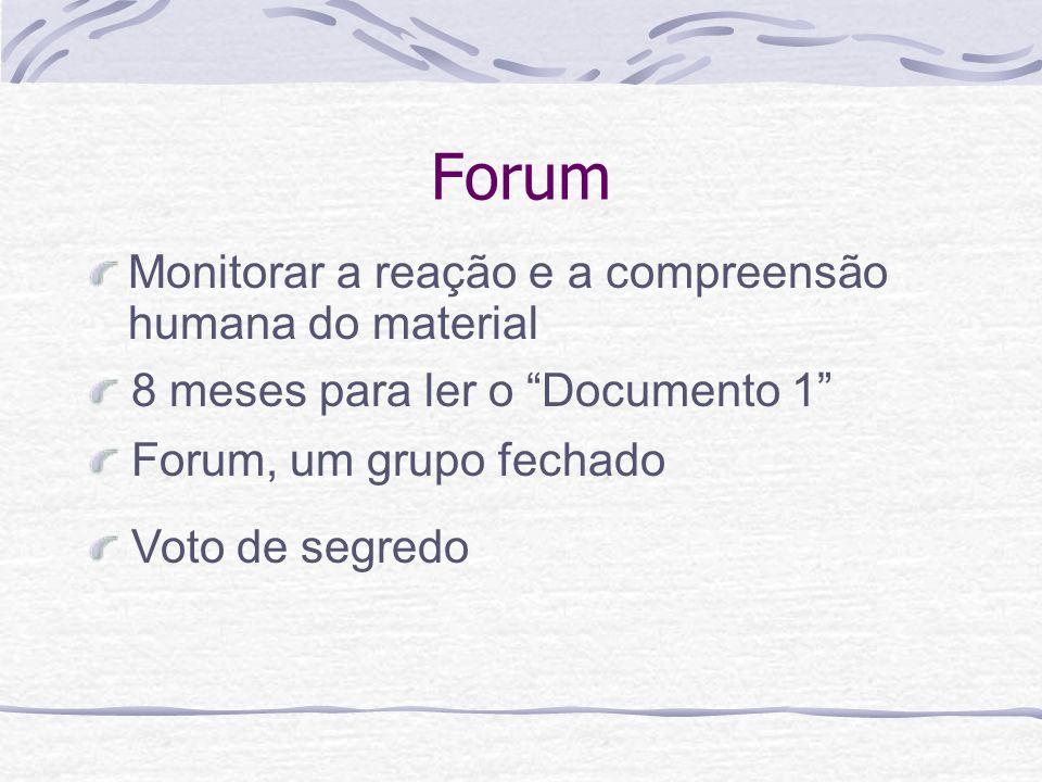 Forum Monitorar a reação e a compreensão humana do material