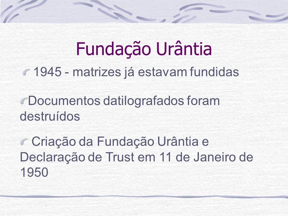 Fundação Urântia 1945 - matrizes já estavam fundidas