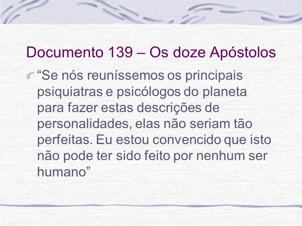 Documento 139 – Os doze Apóstolos