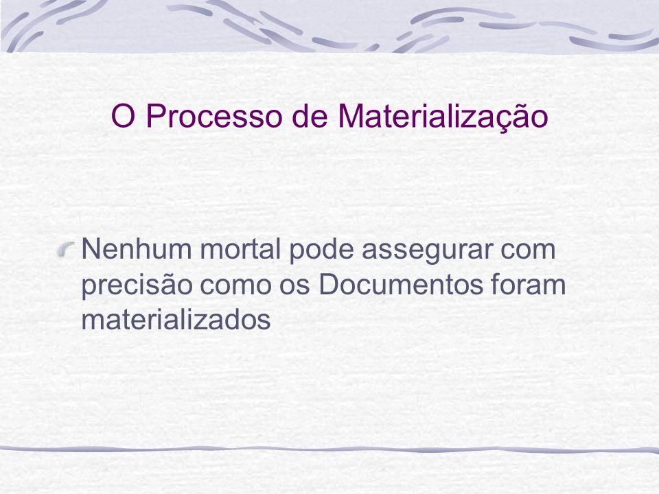O Processo de Materialização