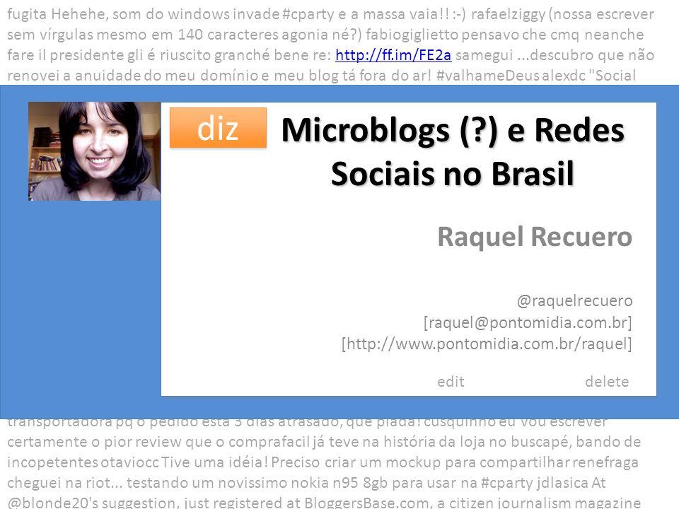 Microblogs ( ) e Redes Sociais no Brasil