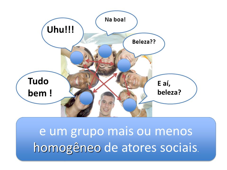e um grupo mais ou menos homogêneo de atores sociais.