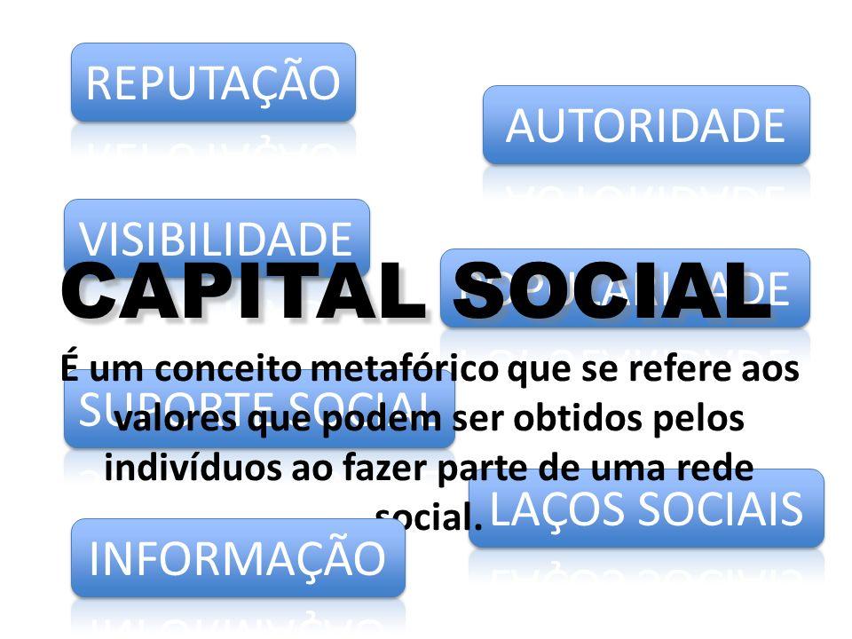 CAPITAL SOCIAL REPUTAÇÃO AUTORIDADE VISIBILIDADE POPULARIDADE
