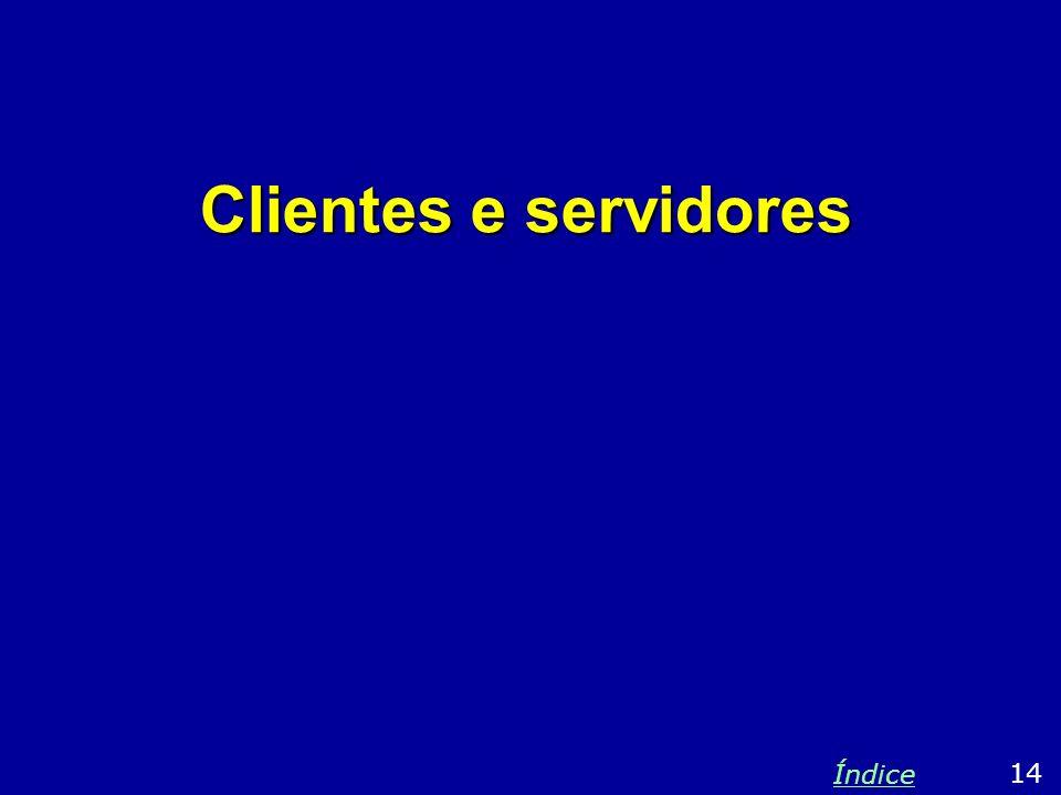 Clientes e servidores Índice 14