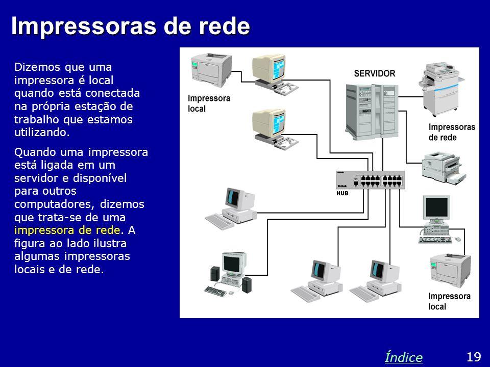 Impressoras de rede Índice 19