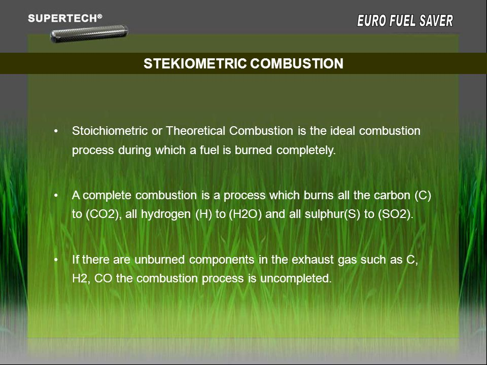 STEKIOMETRIC COMBUSTION