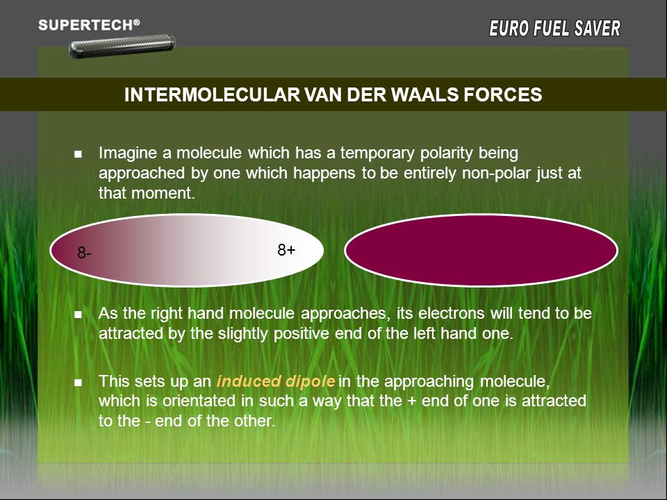 INTERMOLECULAR VAN DER WAALS FORCES