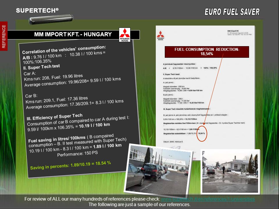 FUEL CONSUMPTION REDUCTION-18,54%