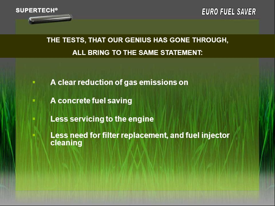 A clear reduction of gas emissions on A concrete fuel saving