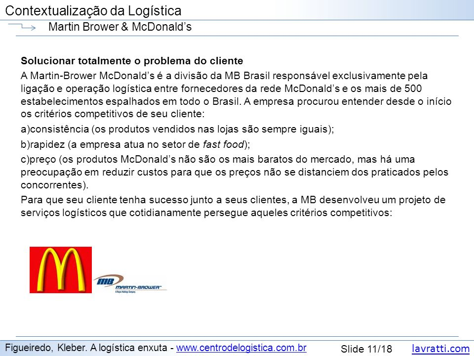 Martin Brower & McDonald's