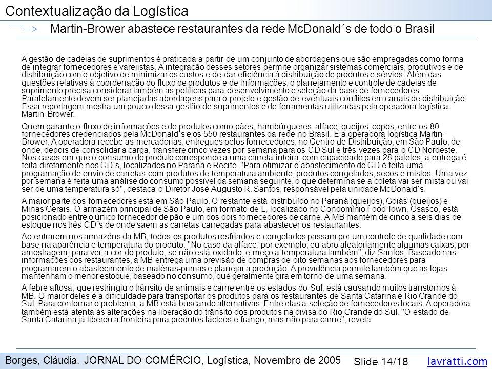 Martin-Brower abastece restaurantes da rede McDonald´s de todo o Brasil