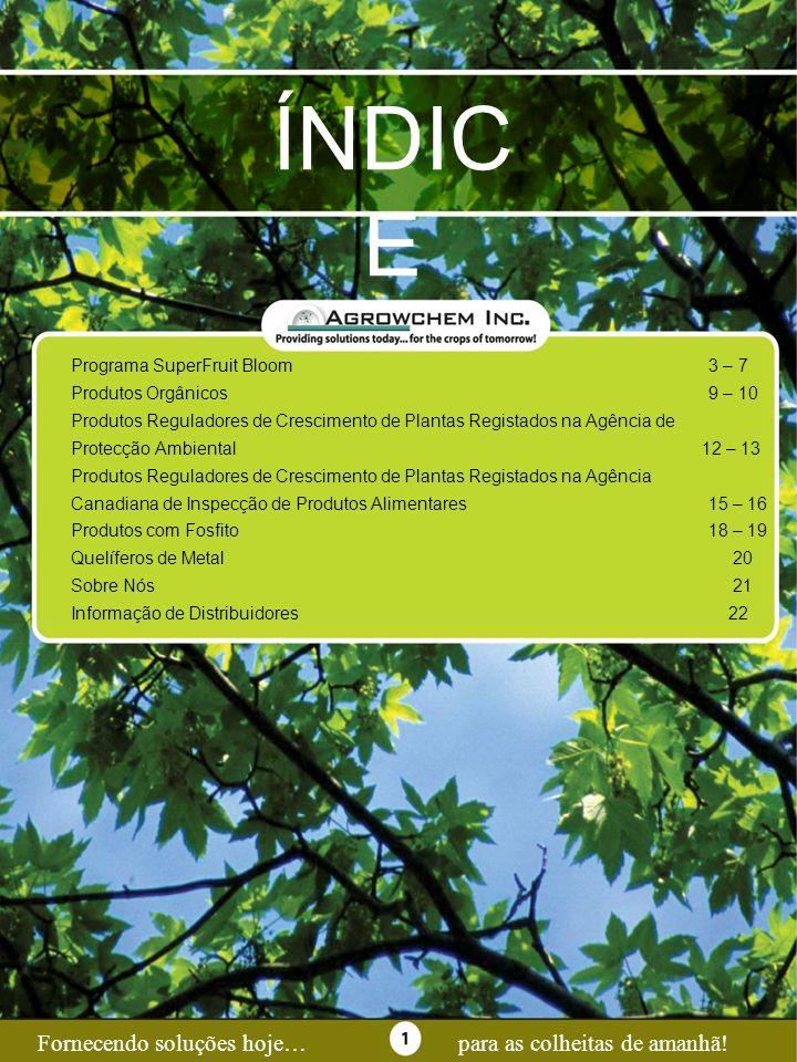 ÍNDICE Page 1 Fornecendo soluções hoje… para as colheitas de amanhã!