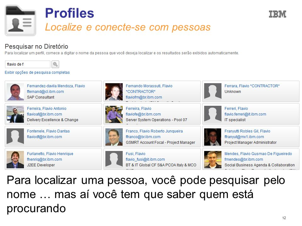 Profiles Localize e conecte-se com pessoas.