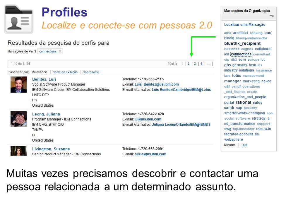 Profiles Localize e conecte-se com pessoas 2.0.