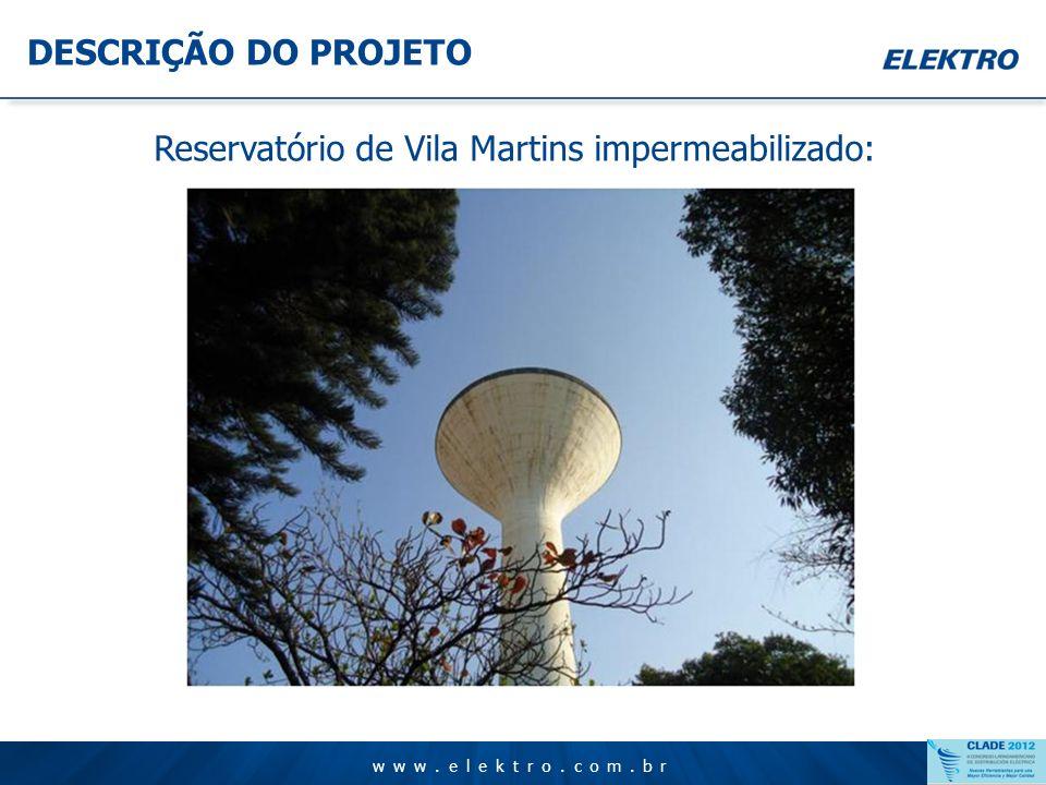 Reservatório de Vila Martins impermeabilizado: