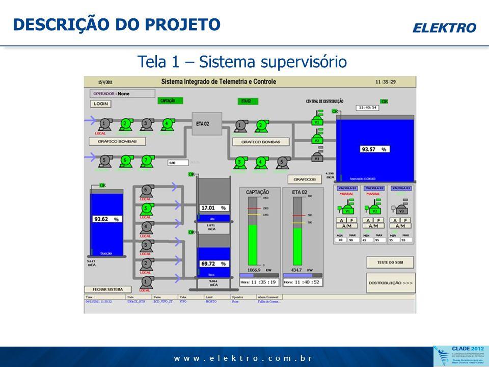 Tela 1 – Sistema supervisório