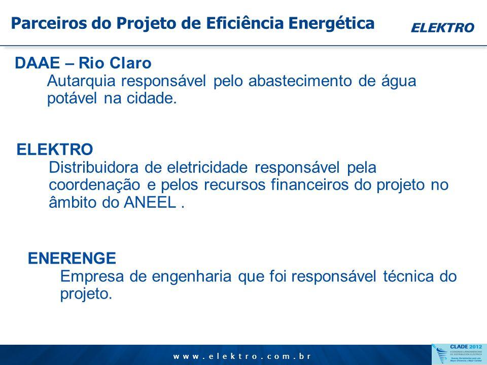 Parceiros do Projeto de Eficiência Energética