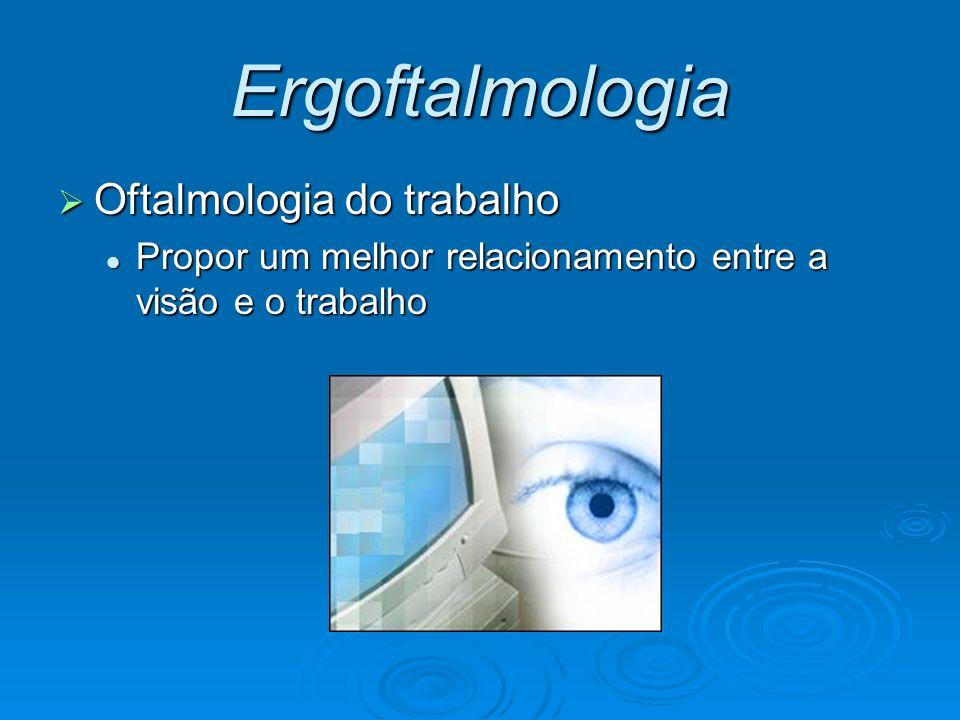 Ergoftalmologia Oftalmologia do trabalho