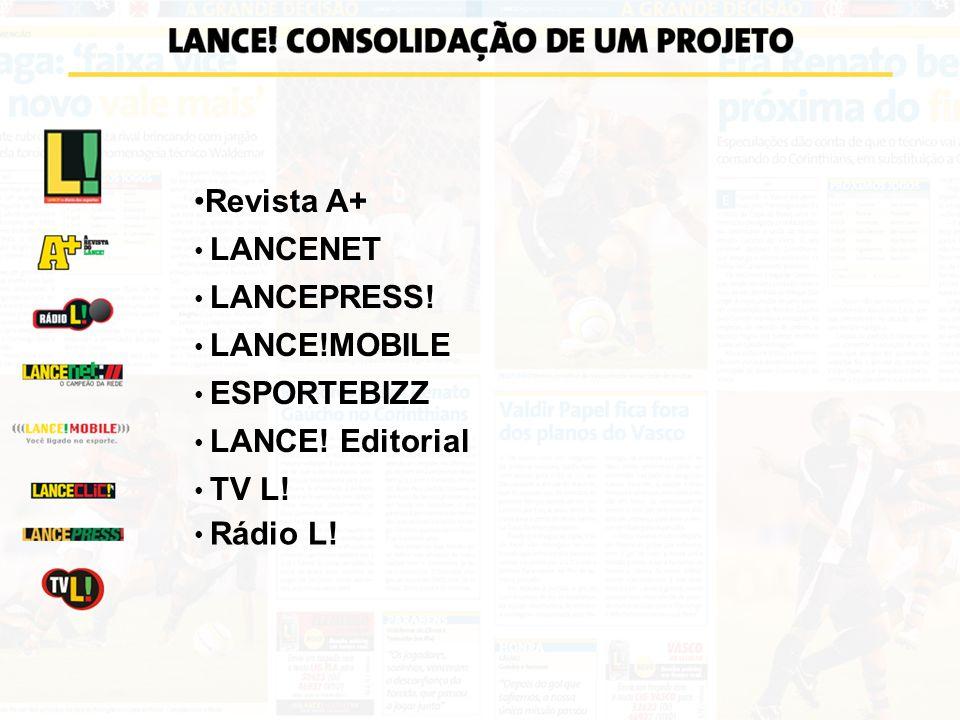 Revista A+ LANCENET LANCEPRESS! LANCE!MOBILE ESPORTEBIZZ