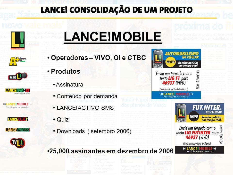 LANCE!MOBILE Operadoras – VIVO, Oi e CTBC Produtos