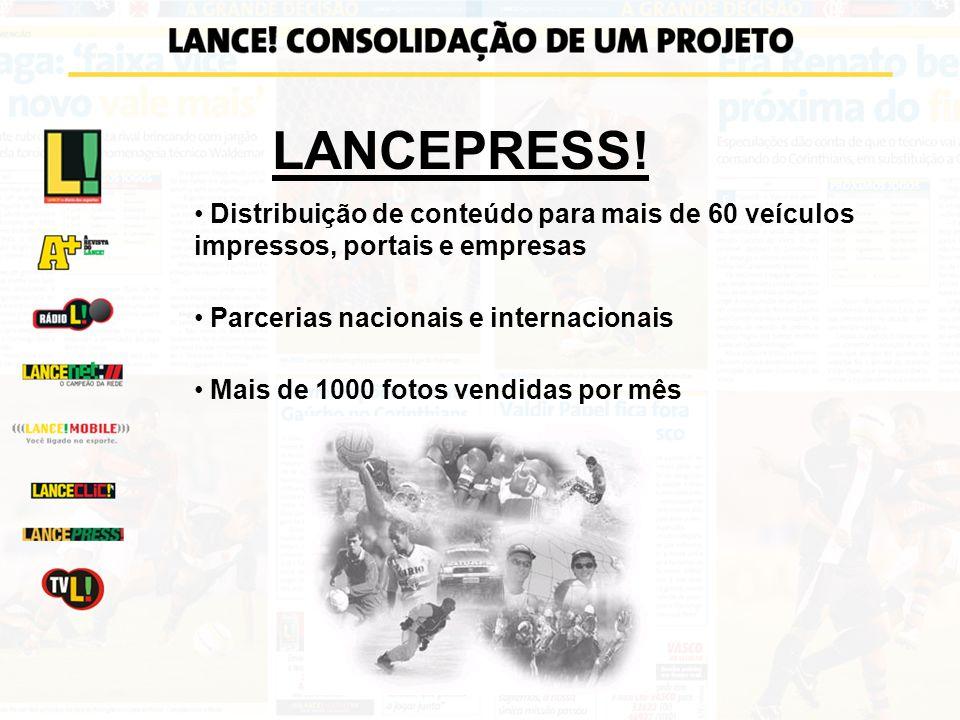 LANCEPRESS! Distribuição de conteúdo para mais de 60 veículos