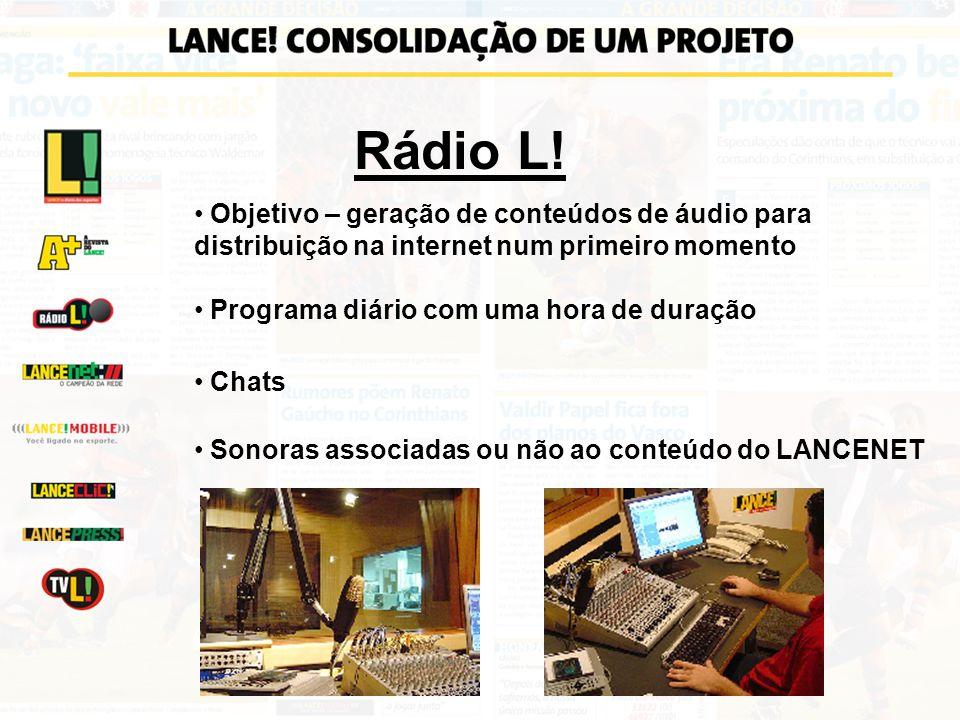 Rádio L! Objetivo – geração de conteúdos de áudio para