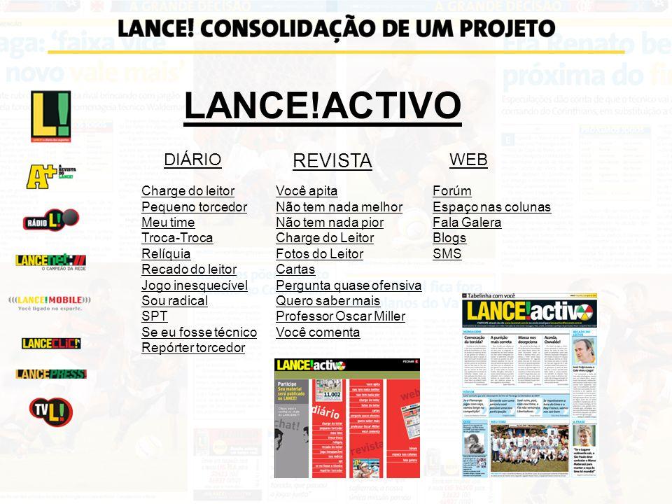 LANCE!ACTIVO REVISTA DIÁRIO WEB Charge do leitor Pequeno torcedor