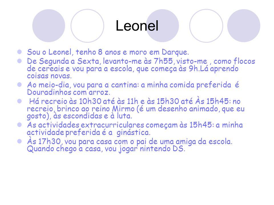 Leonel Sou o Leonel, tenho 8 anos e moro em Darque.