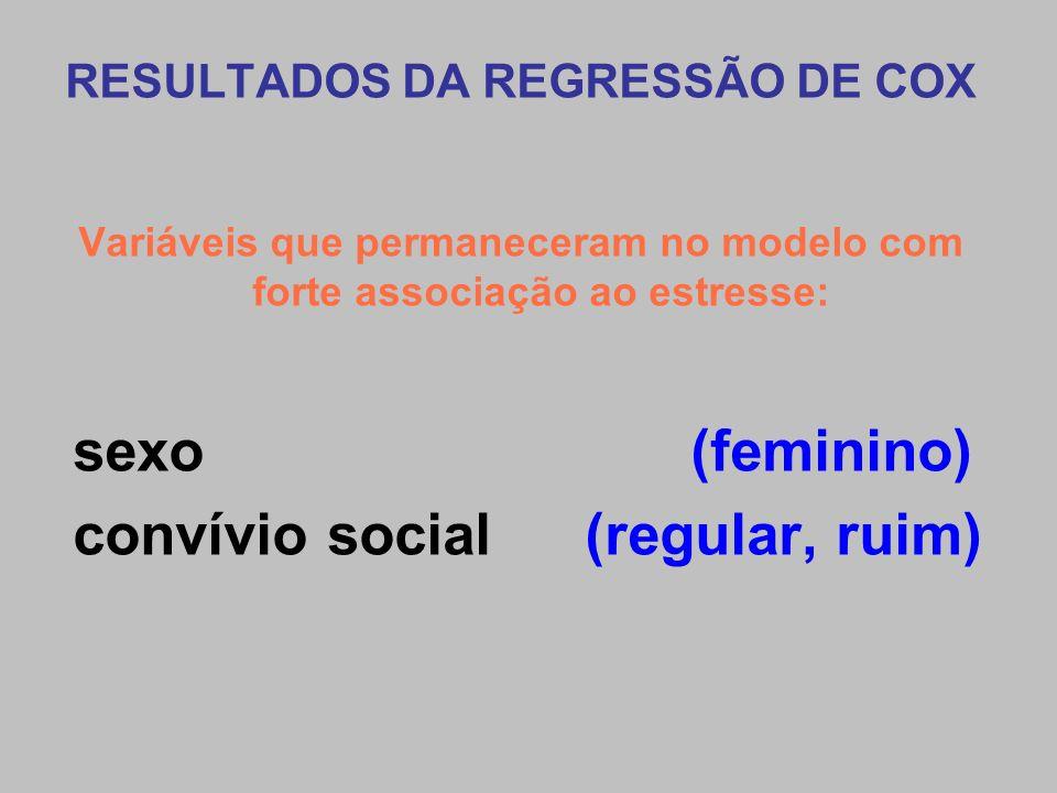 convívio social (regular, ruim)