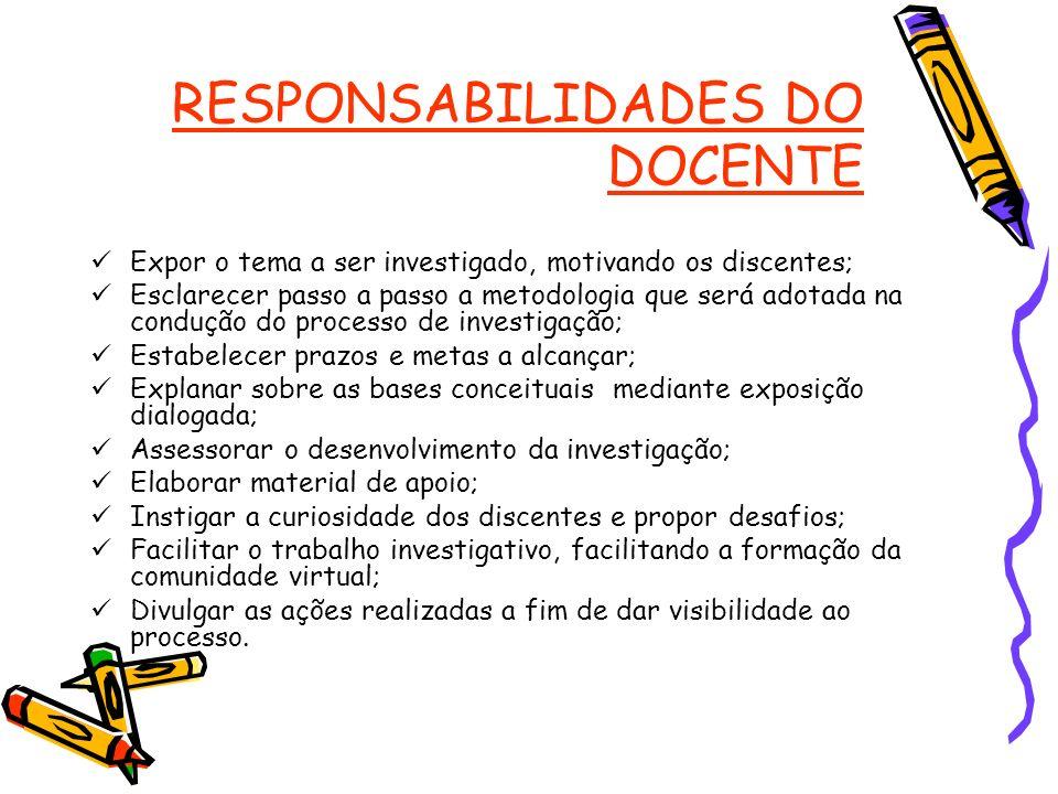 RESPONSABILIDADES DO DOCENTE