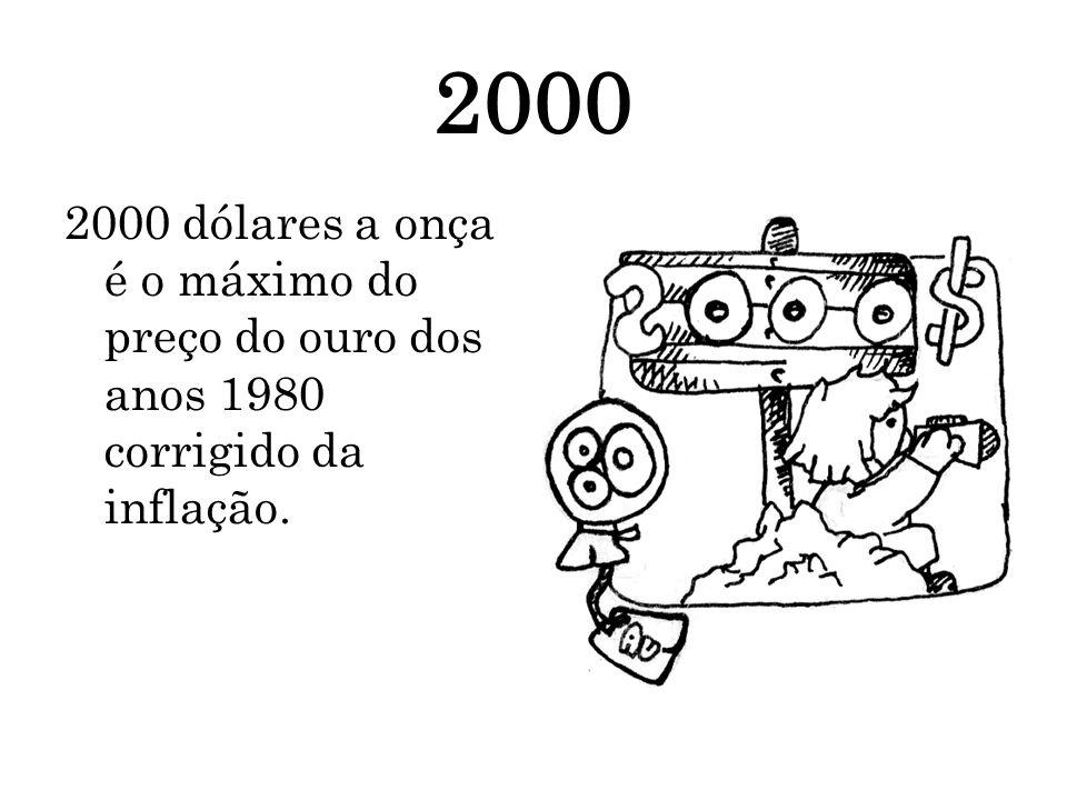 2000 2000 dólares a onça é o máximo do preço do ouro dos anos 1980 corrigido da inflação.