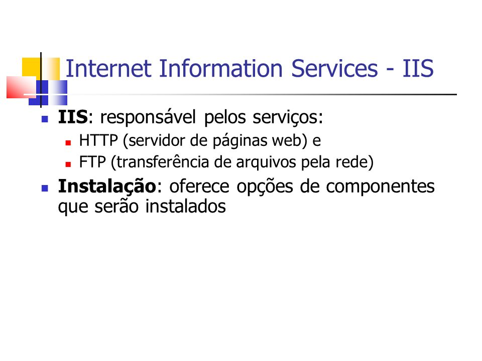 Internet Information Services - IIS